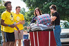 Incoming freshmen honors student Cole Maurer and his sister Sarah a senior at WVU moves Cole into Lincoln honors hall. Cole is assisted by WVU student hotshots, faculty and staff, August 11, 2017. Photo Greg Ellis