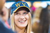 Incoming WVU Freshman Argel Johnson Sociology Martinsburg, WV makes new friends and enjoy the night at Monday Night Lights Puskar stadium  August 14, 2017. Photo Greg Ellis