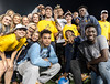 WVU Freshmen students come togeather making new friends and enjoying the evening at Monday Night Lights Puskar stadium August 14, 2017. Photo Greg Ellis