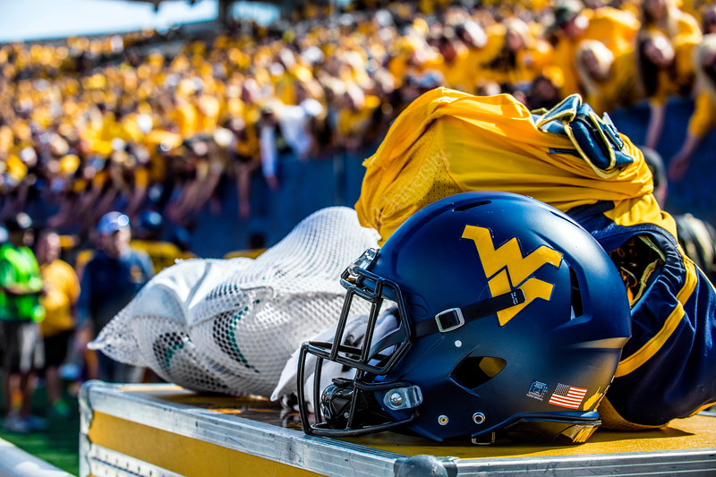 The Mountaineers play Eastern Carolina University in Morgantown, September 9th, 2017.  Photo Brian Persinger