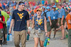 WVU students assisting at the national Scout jamboree Bechtel Family National Scout Reserve walk through a sea of scouts searching for water July 22, 2017. Photo Greg