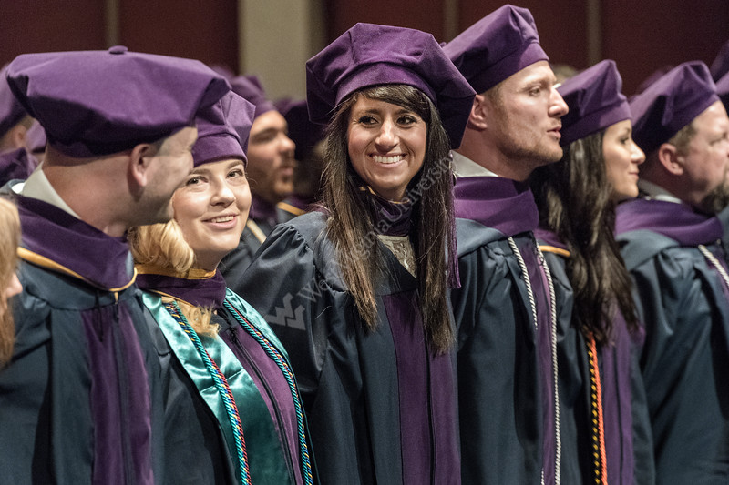 WVU College Of Law Graduates share smiles, sing Country Roads and celebrate at the CAC, Evansdale campus May 11, 2018. Photo Greg Ellis
