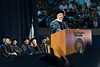 WVU Eberly College Honorary Doctorate of Humane Letters recipient Peter Kalis addresses graduates, family, faculty and friends of WVU at the Eberly College Bachelor Commencement May 13, 2018. Photo Greg Ellis