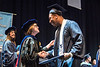 Student Athlete Bruce Irvin receives his Regents degree during the College of Education and Human Services Commencement in the Coliseum May 12th, 2018.  Photo Brian Persinger