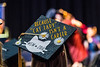 WVU Eberly Graduate student Chelsea Wilfong Master Of Social Work expresses herself via her mortarboard  at the Eberly College Graduate Commencement May 13, 2018. Photo Greg Ellis