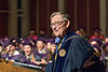 WVU College Of Law Graduates listen to remarks by WVU President E. Gordon Gee  at the CAC, Evansdale campus May 11, 2018. Photo Greg Ellis