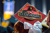 WVU Eberly College graduate Karlee Good an English Major from Cleveland Ohio expresses herself using Mortarboard art at the Eberly College Bachelor Commencement May 13,  2018. Photo Greg Ellis