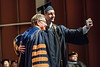 WVU Creative Arts Graduate BFA Acting, Cody Hively makes one last selfie with WVU President E. Gordon Gee at the CAC graduation May 11, 2018. Photo Greg Ellis