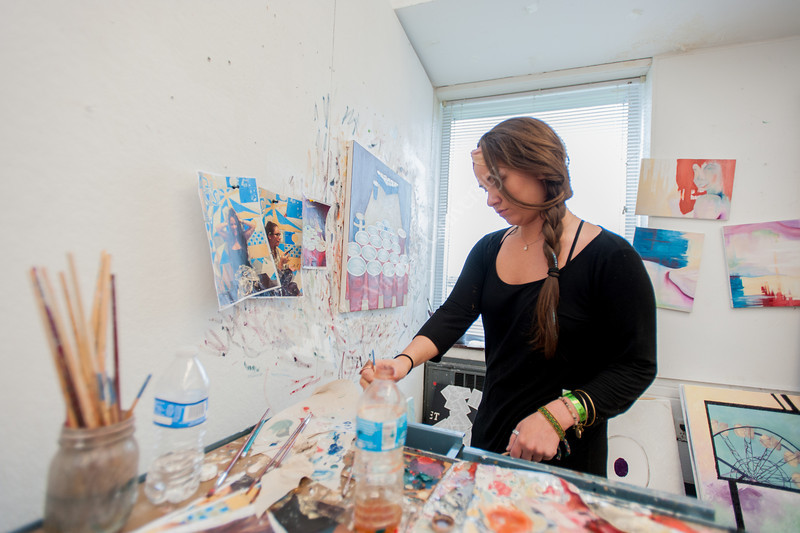 Students finishing studio art projects at the College of Creative Arts