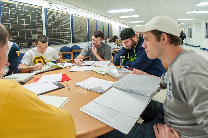 Civil Engineering students studying for exams