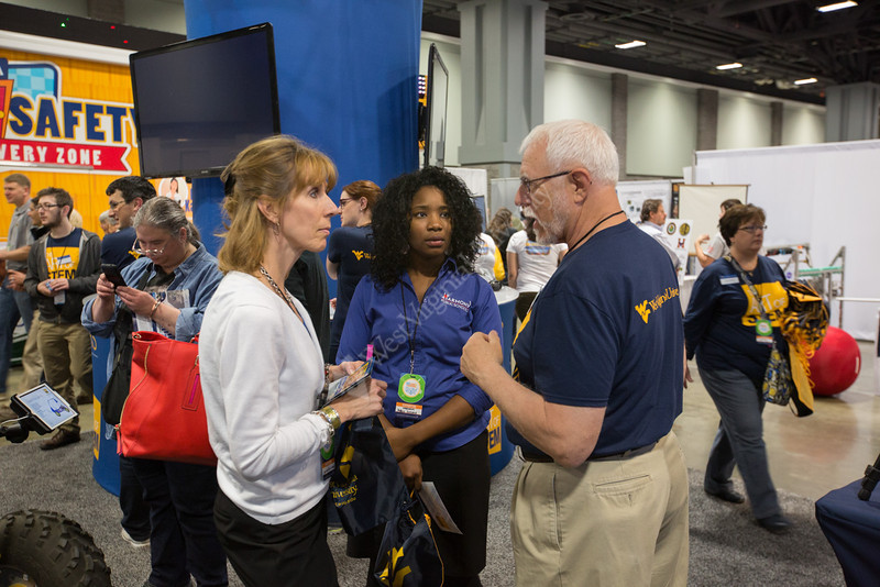 Visitors interacted with WVU staff, faculty, and students throughout 3 days of the show.