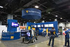 A view of the WVU booth before the show opened.