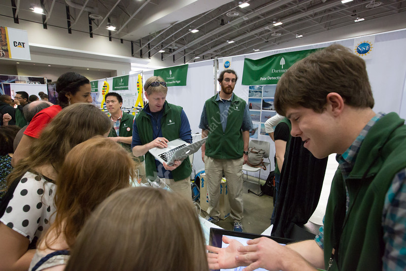 Other higher education exhibits at the USA Science and Engineering Festival.