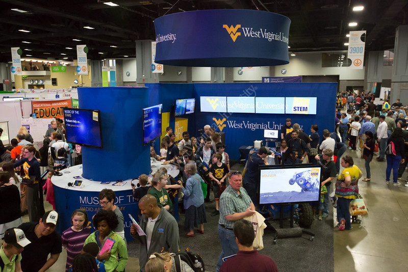 General views of WVU's exhibit at the USA Science and Engineering Festival.