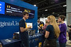 WVU students explained the technology in the displays to visitors.