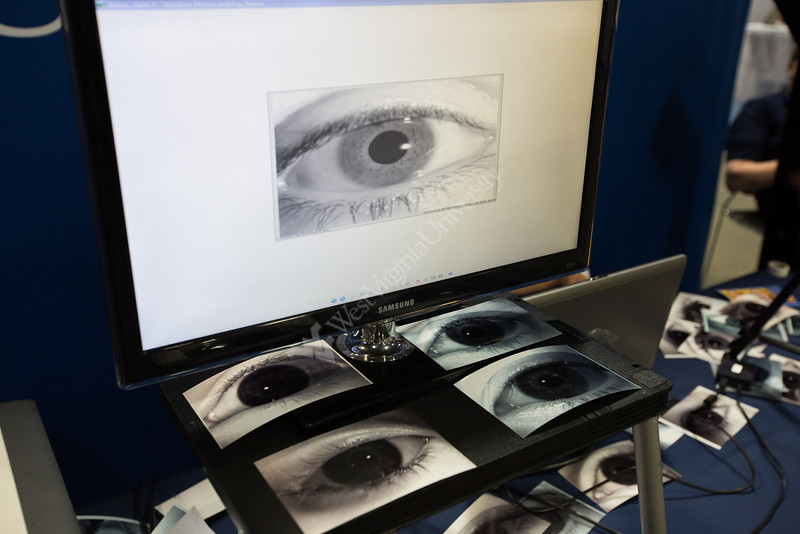Iris scan prints in the Biometrics display.