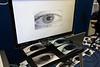 Iris scan prints in the Biometrics display.