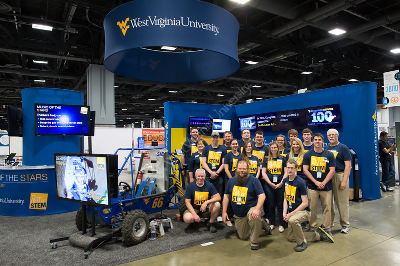 The WVU team at the 2014 USA Science and Engineering Festival in Washington, D.C.