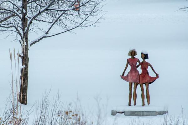 Sculptures in Snow