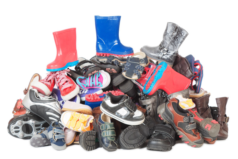 Pile of childrens old shoes #3 | Isolated