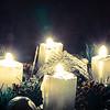 four burning candles