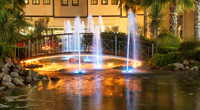 night fountains in luxury five stars hotel
