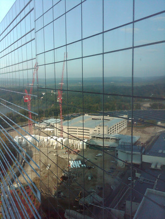 Mohegan Sun - additional construction 092009.  Shot with Blackberry Storm