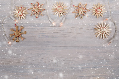 white christmas lights background