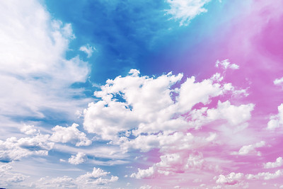 Spring Blue sky with clouds