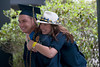 28346s061xx<br /> Todd Crimmel, a sports management major from Tunkhannock, Pa celebrates with his sister Sara Crimmel following the CPASS commencement ceremony