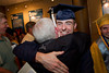 Steve Neff hugs his grandfather Charles Neff after the 2012 Honors Convocation.