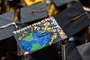30438; s0068xx; december commencement; 2014; photo greg ellis; mortar board decoration; campus scene