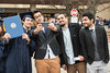 30438; s0219xx; 30438; december commencement; 2014; photo greg ellis; l to r omer eltargan economics libia faisal alsadhan mis abdulrahman alghanadi finance fahard alhaily finance; saudi arabia; campus scene; selfie