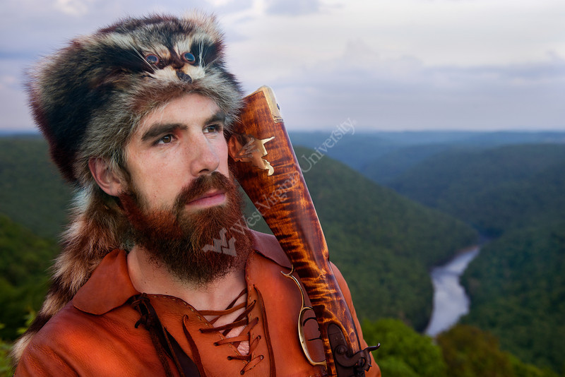 28314S0095XX - Official Approved portrait of Jonathan Kimble 2012 Mountaineer Mascot