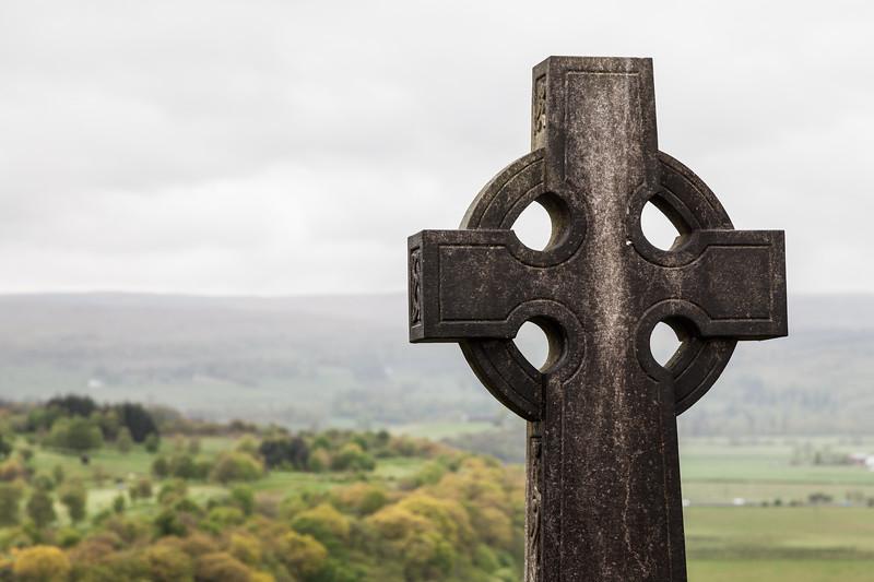 Grave stone on a graveyard