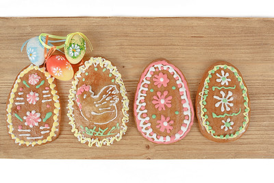 Easter ginger breads and painted egg