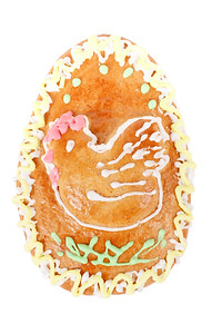 easter egg gingerbread on white