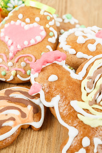 Close up of easter gingerbreads
