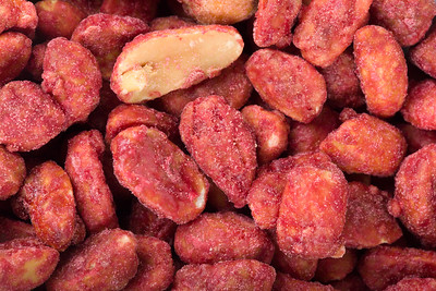 spicy spice coated peanuts