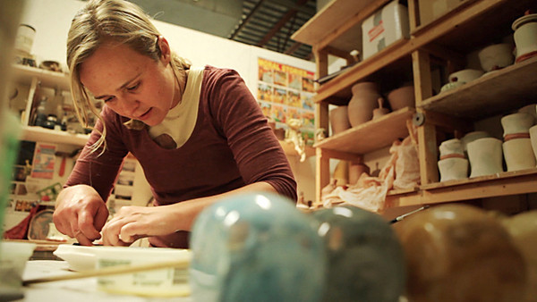 "ORIGINAL - Erica Passage, MFA ceramics student (from ""The Magic of Clay"" video)"