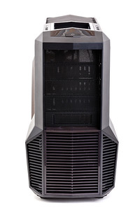 modern black computer case on white