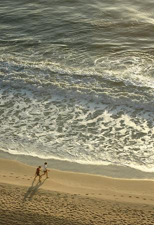 Morning Walk on Melbourne Beach, FL