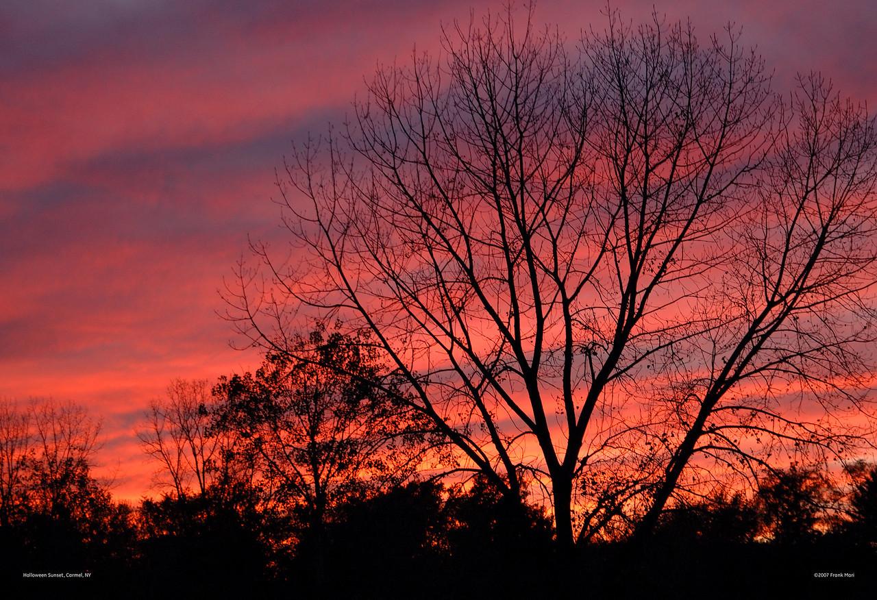 Halloween Sunset<br /> Carmel, NY