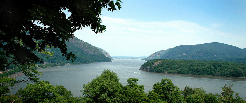 "The ""Million Dollar View"" of the Hudson River from West Point Military Academy in New York State"