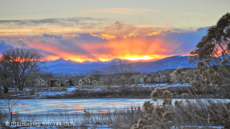 Winter Sunset - Loveland, CO
