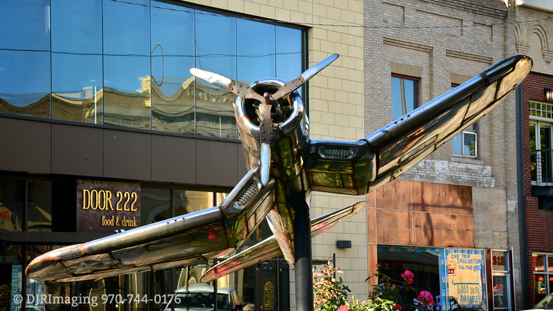 F4U Chrome Corsair <br /> by Robert Henderson<br /> Loveland TAAP 3-D, 2015 Sculptures