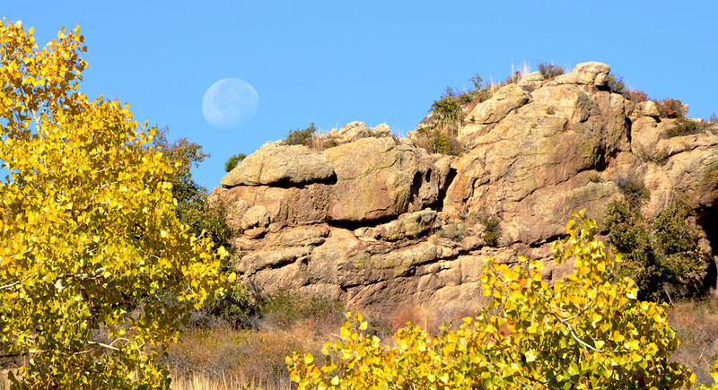 Moonset Over Devils Backbone