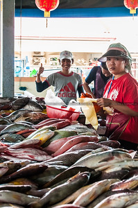 The Fish Vendors In The Fish Market