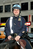 An NYPD police officer with the mounted unit, New York, USA