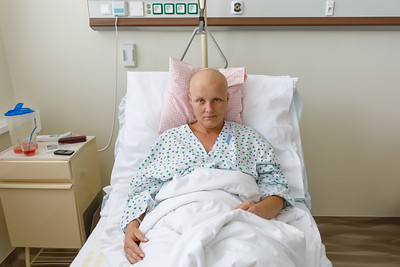 Middle age woman cancer patient